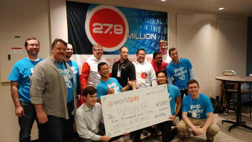 ATDC Fintech Hackathon Winners of the Worldpay prize