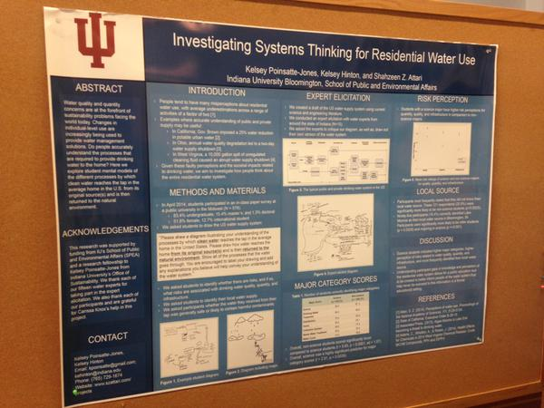 Kelsey Poinsatte-Jones and Kelsey Hinton present their poster