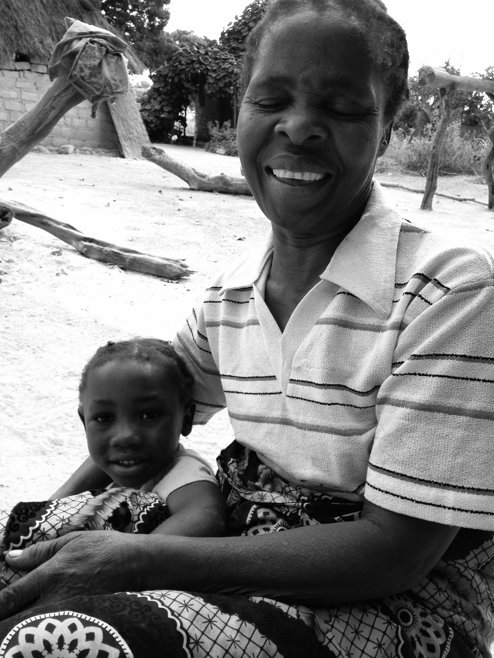 Grandmother and grand daughter