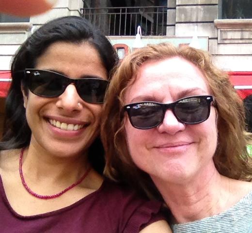Shaz with her amazing mentor Elke Weber
