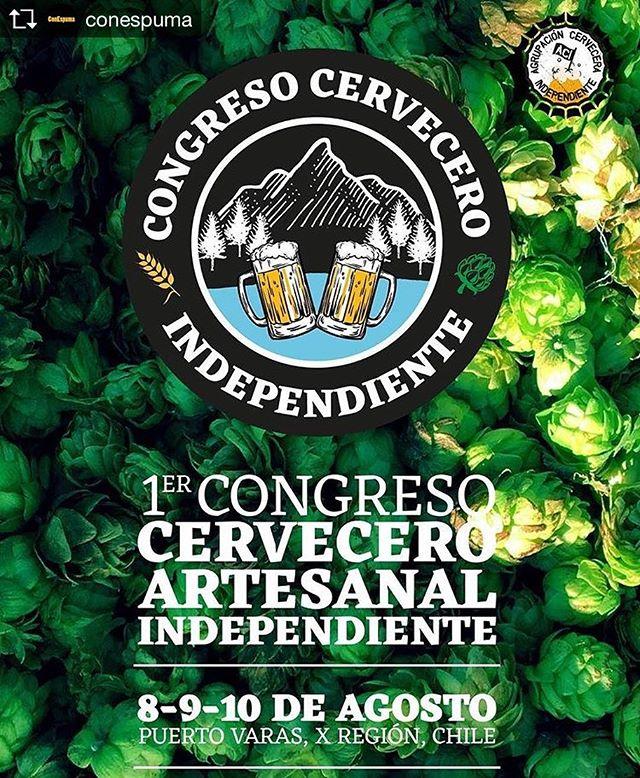 Repost from @conespuma @TopRankRepost #TopRankRepost En agosto de este año se realizará en Puerto Varas el 1er congreso cervecero artesanal independiente por y para cerveceros artesanales de Chile y Argentina. . . #beer #craftbeer #cerveza #congreso #cerveceros #cervecerosindependientes #puertovaras #chile #argentina #beerporn
