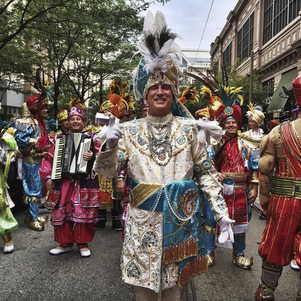 Leader of the Mummers — North 12th Street — Philadelphia, PA June 2015 camera:  iPhone 6