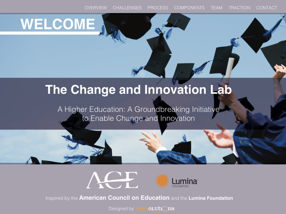 The Change and Innovation Lab. A higher education: groundbreaking initiative to enable change and innovation, December 2015