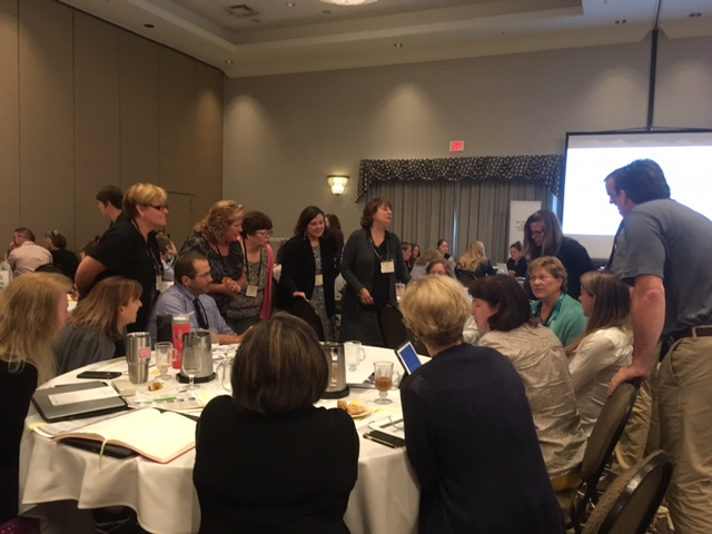 "Participants sharing their ""Big Whys"" with each other. Why competency-based education? Why now?"