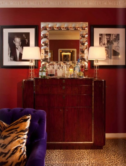 .....a stripe of Tiger...  either way  they both add the perfect punch to these rooms.