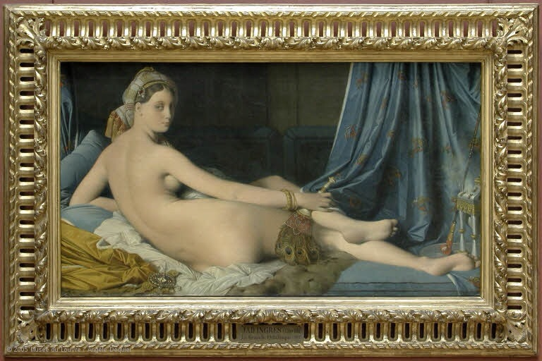 Grande Odalisque, oil painting of 1814 by Jean Auguste Dominique Ingres