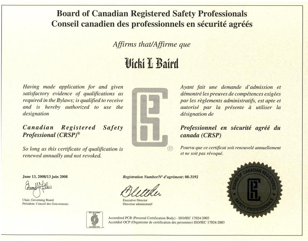 certifications on the move safety
