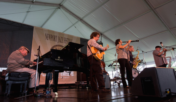 George Wein & The Newport All-Stars perform during the 2014 Newport Jazz Festival at Fort Adams State Park on August 3, 2014 in Newport, Rhode Island.