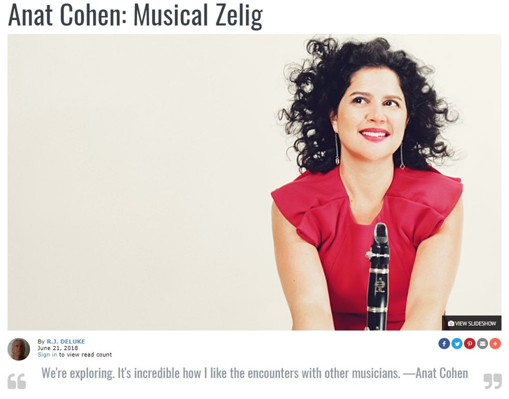 All About Jazz - Anat Cohen: Musical Zelig