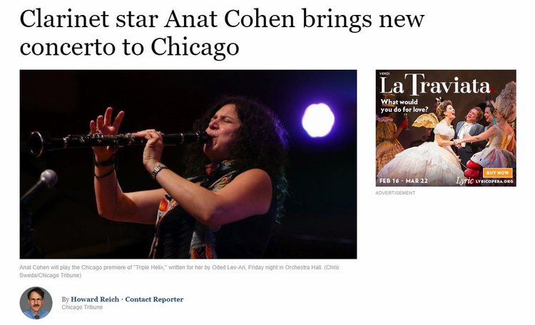 Clarinet star Anat Cohen brings new concerto to Chicago