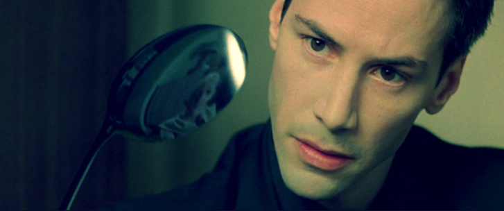 Neo in The Matrix realizing that there is no spoon, and that's why he can bend it. And you, you'll realize there is no writer's block and that's why it can't mess with you. (The Matrix is the property of Warner Bros and we thank them for it. )