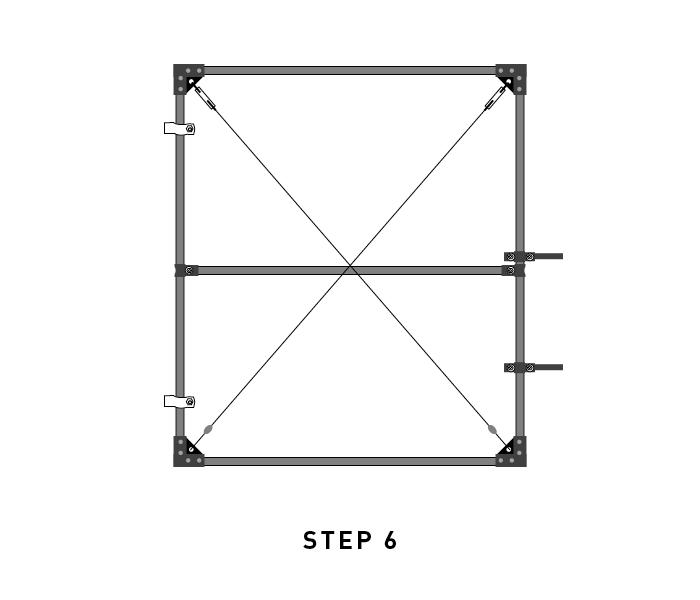 deer fence diagram garden gate