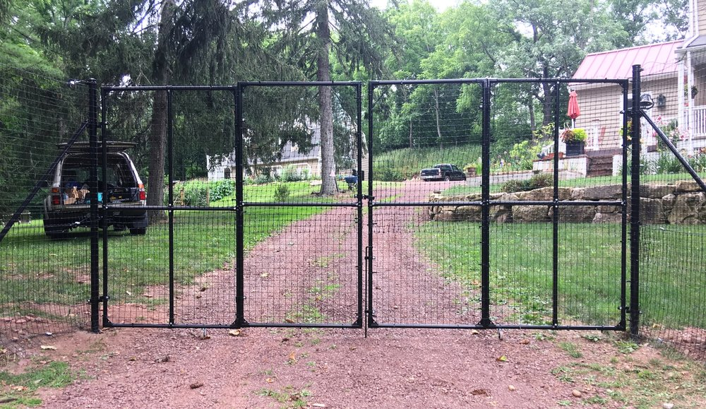 custom deer fence driveway gate