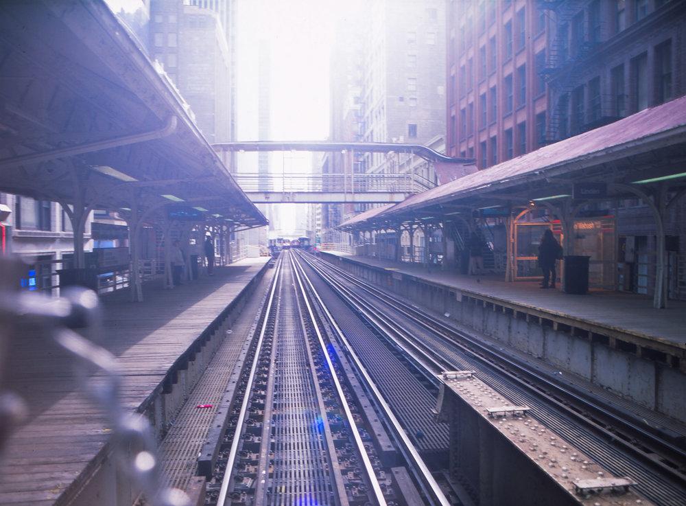 Mamiya - Provia 100F - Chicago L tracks.jpg