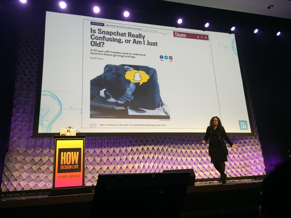 Author and futurist, Amy Webb, talked about Snapchat and the technological trends of the future. Be on the lookout for STG foray into Snapchat in the near future!