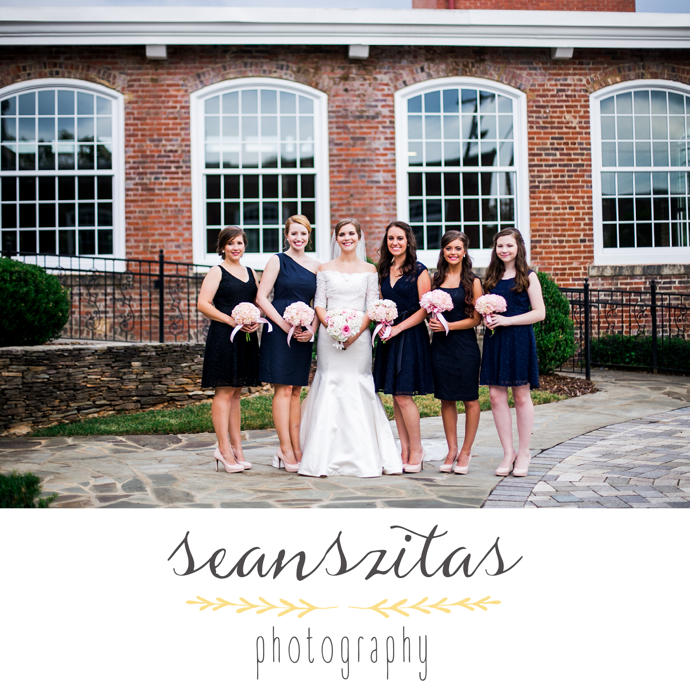 bride bridesmaids greensboro north carolina photographer
