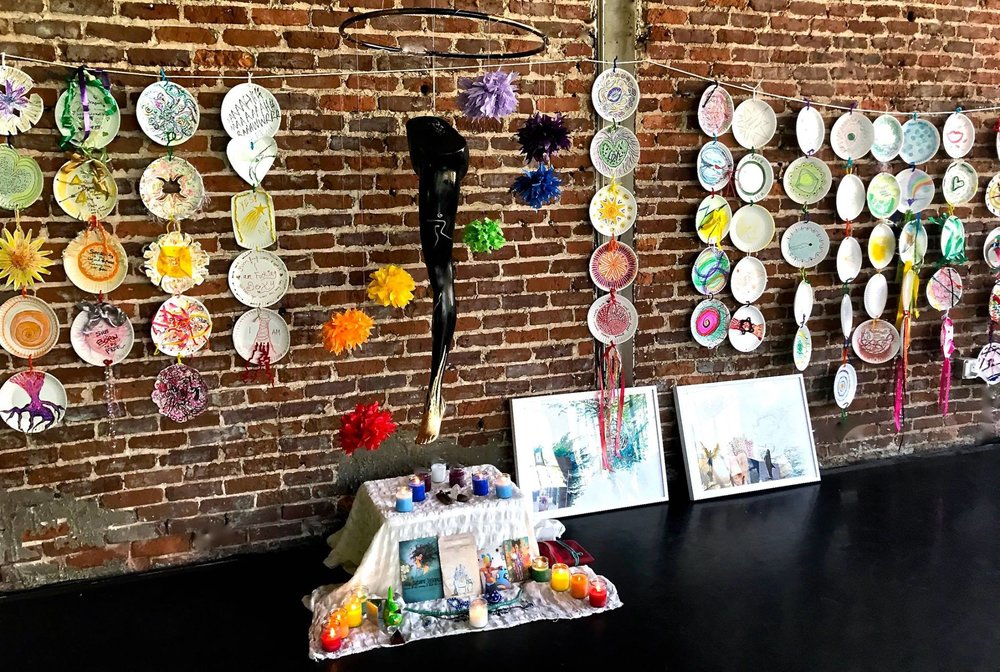 Chakra art by the group and installation by Neil Burns