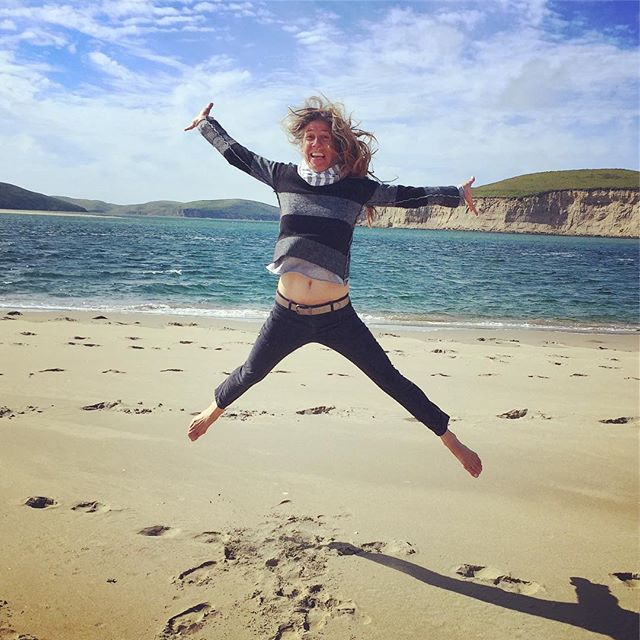 Flying high on my birthday! Magical day walking on my favorite beach with my sister @nsazevich escorted for over an hour by 3 grey whales. #magicallife #leapingintothenextyear #gratitude