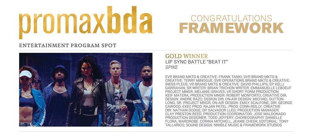Framework Gold Award