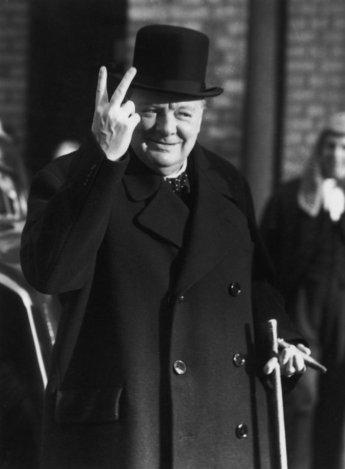 "British Prime Minister Winston Churchill: ""We must never surrender!"""