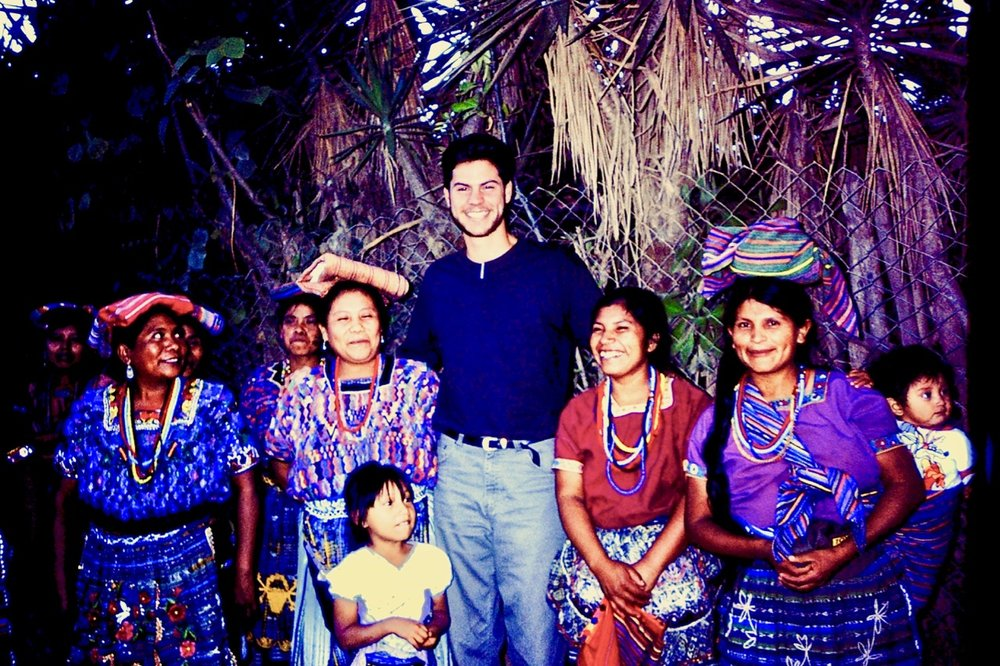 The author in Guatemala, 1994.