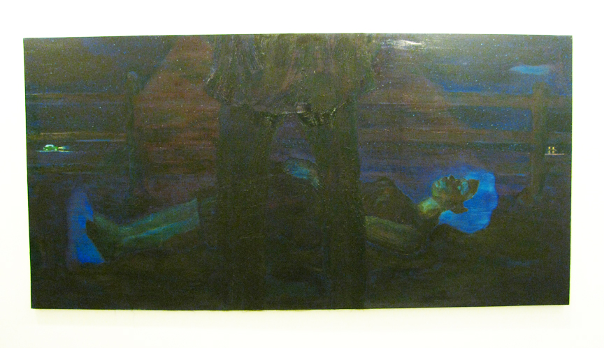 The Good, The Bad, and The Ugly - oil on canvas, 120 x 60 in