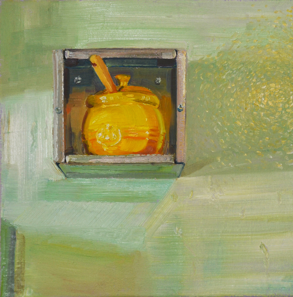Honey Pot -  oil on canvas, 20 x 20 in