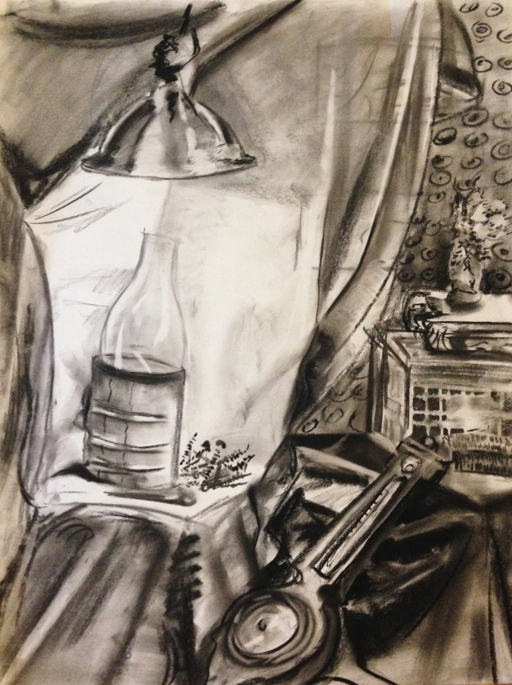 Still life -  charcoal on paper