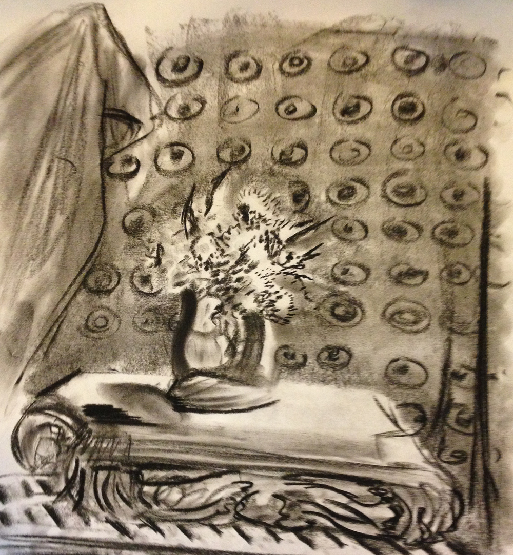 Still life 2 - charcoal on paper