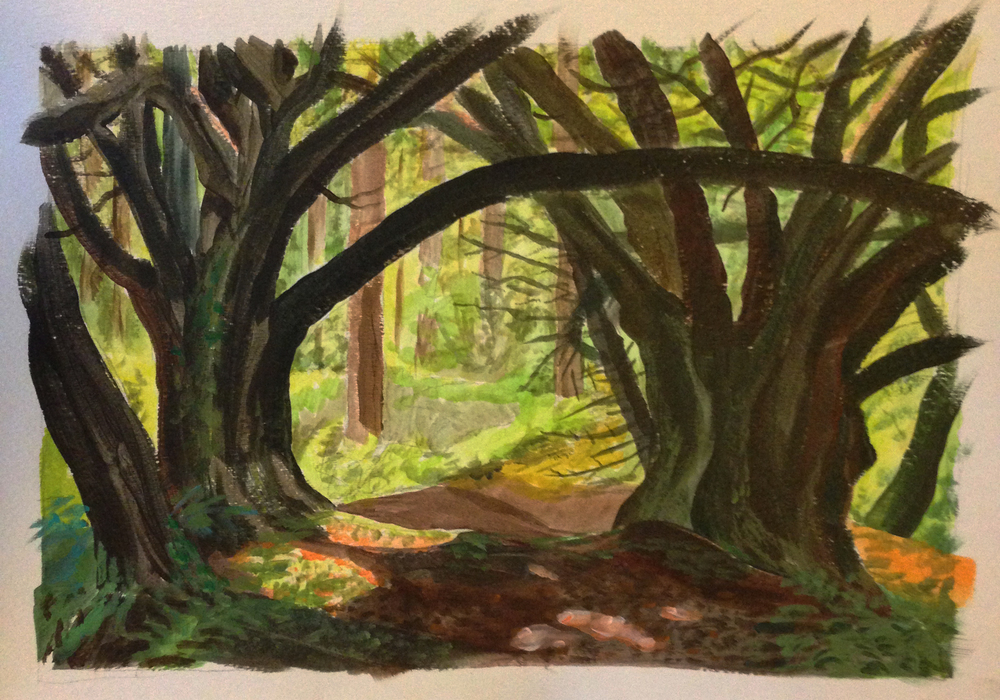 My Woods -  acrylic on paper