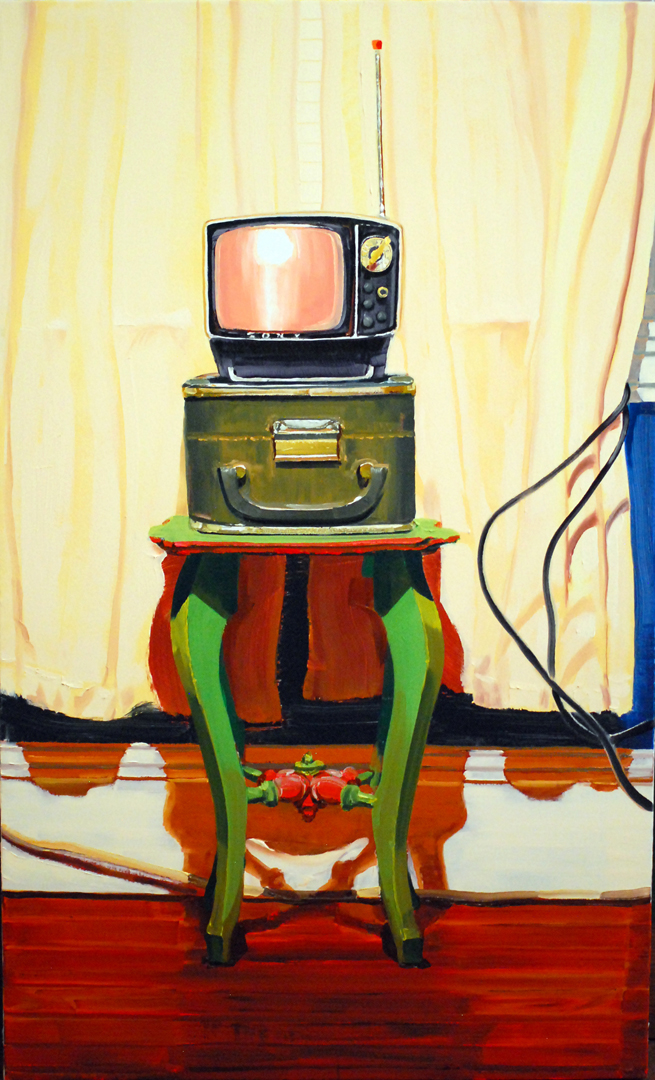 Sony Spaceman -  oil on canvas, 36 x 48 in