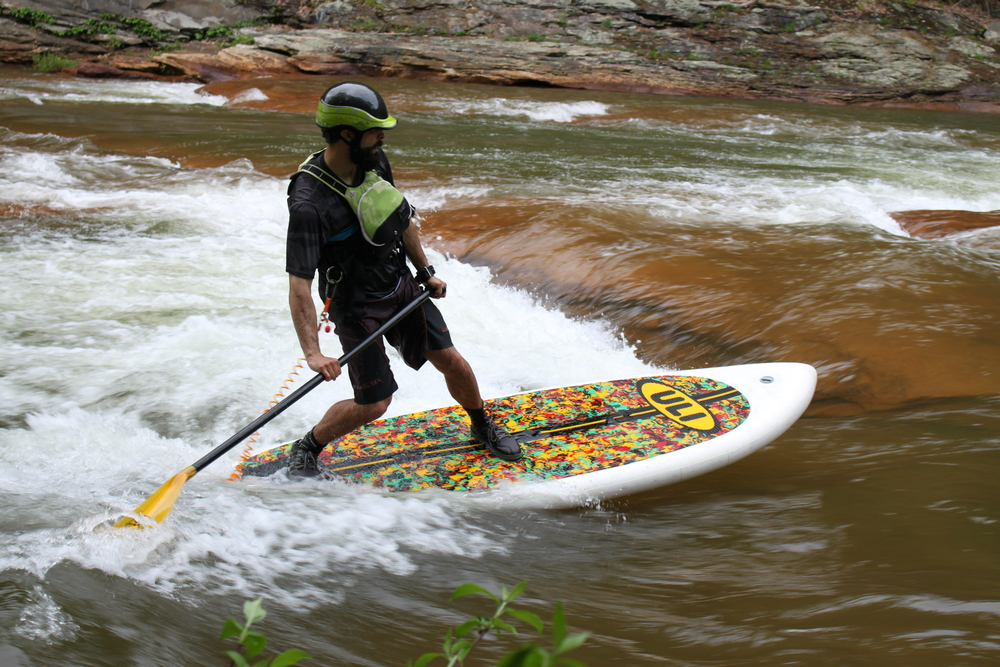 "Jason Kopp surfing the famous ""Beaches"" on the Stonycreek River"