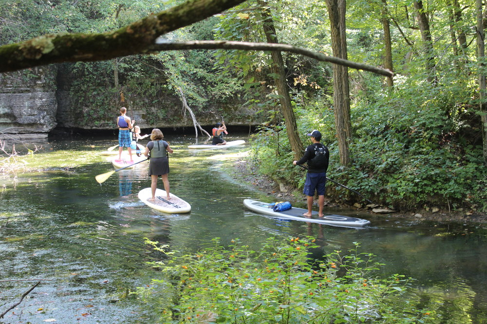 SUP Tour at Moraine State Park in Butler County, PA