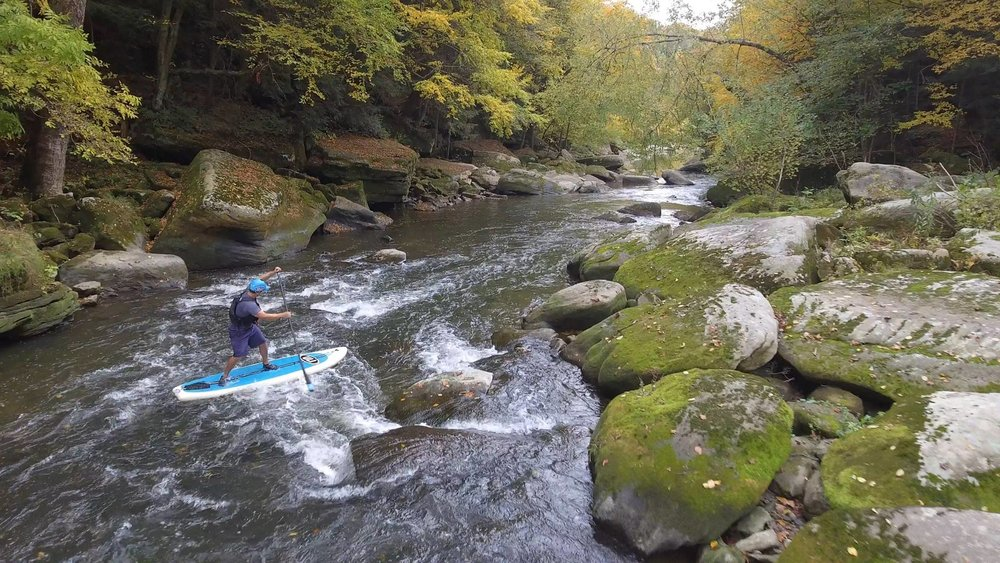 Whitewater SUP and River Surfing Adventures - For those looking to take standup to the next level! Learn to navigate rapids and surf the river.