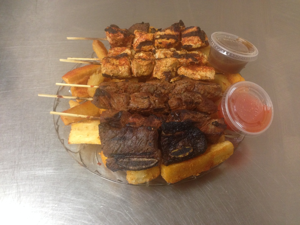 Grill Platter with Mogo  - Skewers 2