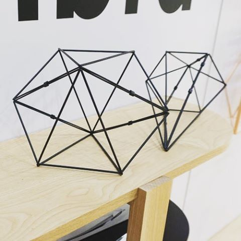 Geometrical design by Umbra at NYNow2016 #dezignstudio #homedesign #tradeshow #nyc #umbra