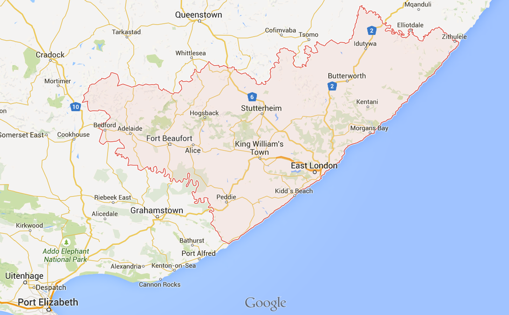 The Sinovuyo Teen Study research site is located in the areas around King William's Town in the Amatole District Municipality of the Eastern Cape in South Africa.
