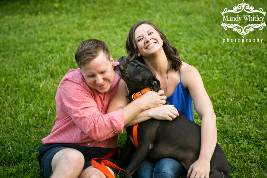 Fun Nashville Engagement Session with a Dog