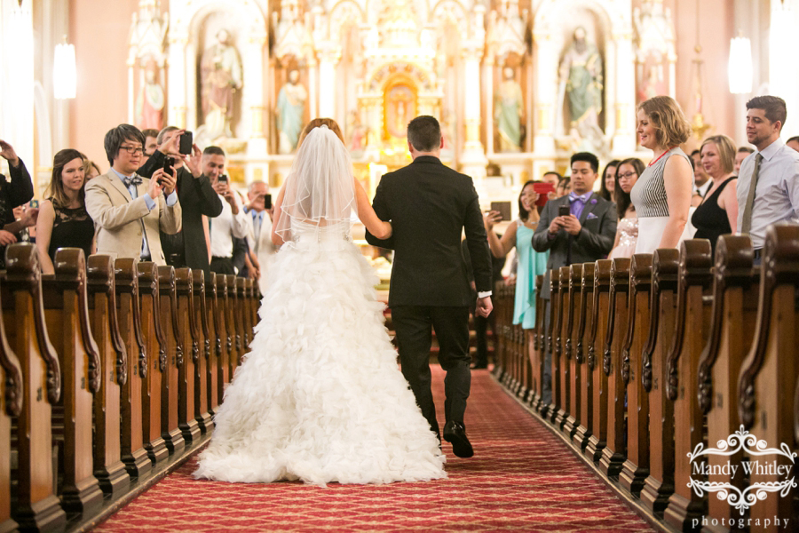 Wedding photography at St. Michael Church in Old Town Chicago