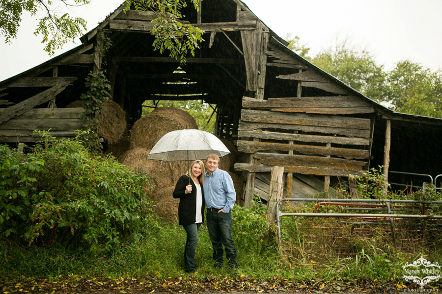 Nashville Engagement Session Alabama Rain Barn Mandy Whitley Photography