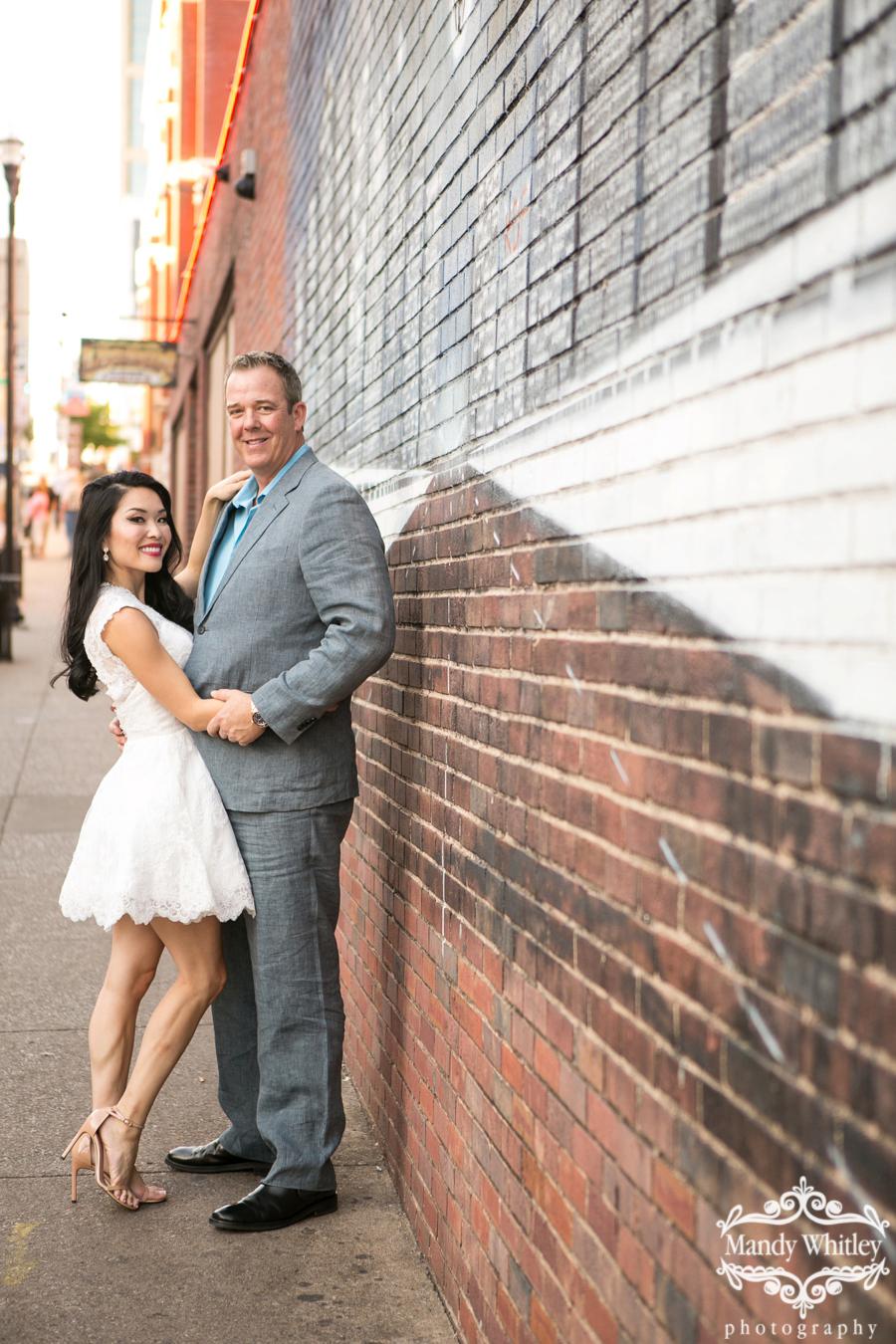 downtown nashville engagement portraits photographer