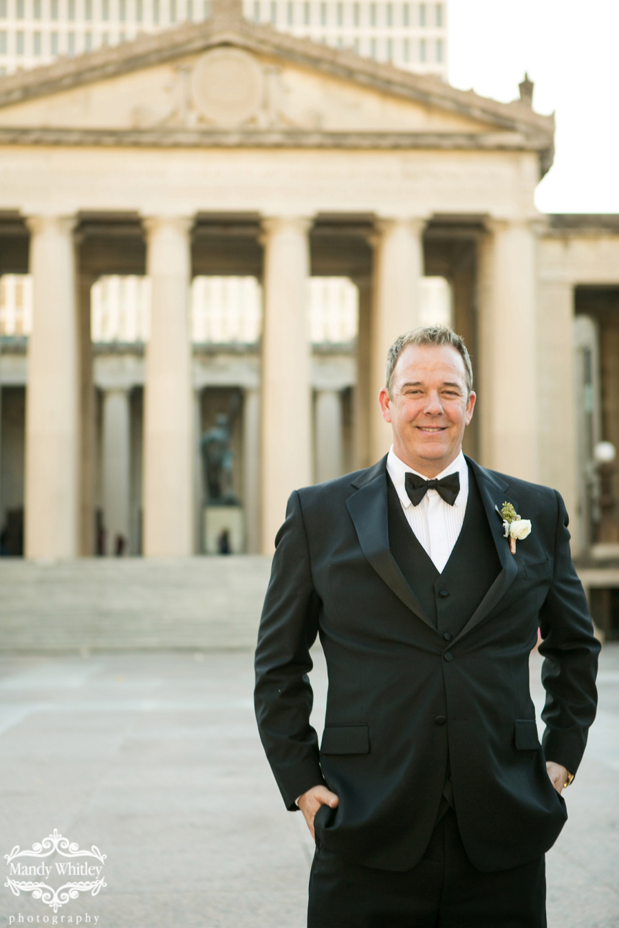 Nashville Wedding at the Hermitage Hotel and War Memorial by Mandy Whitley Photography