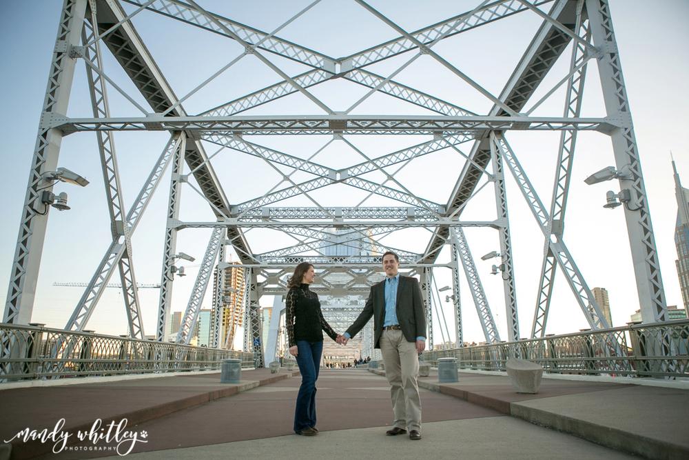downtown nashville engagement portraits
