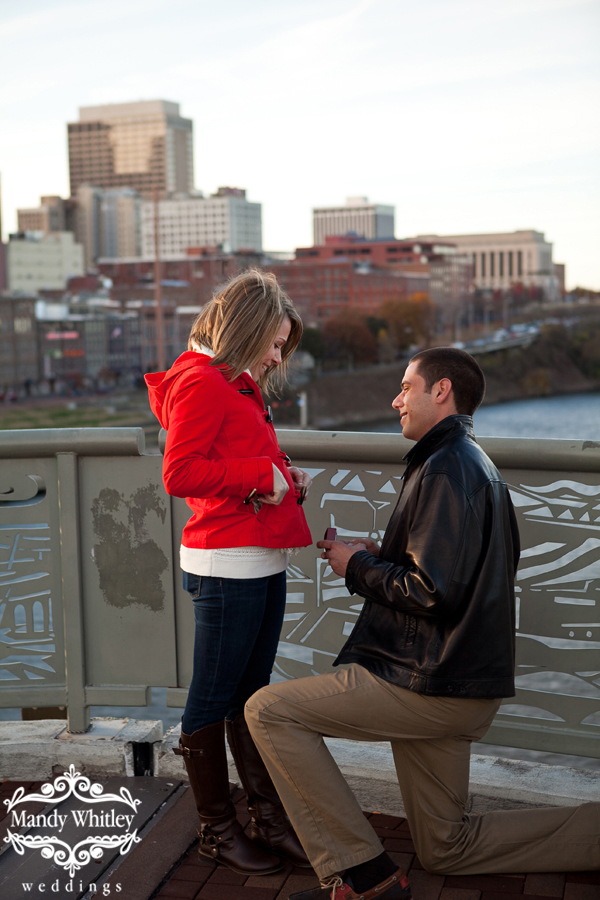 Shelby Street Bridge Proposal Nashville Wedding Photographer