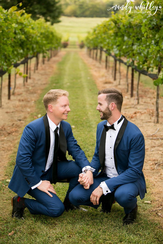 Lilac Farm Same Sex Wedding at Arrington Vineyard