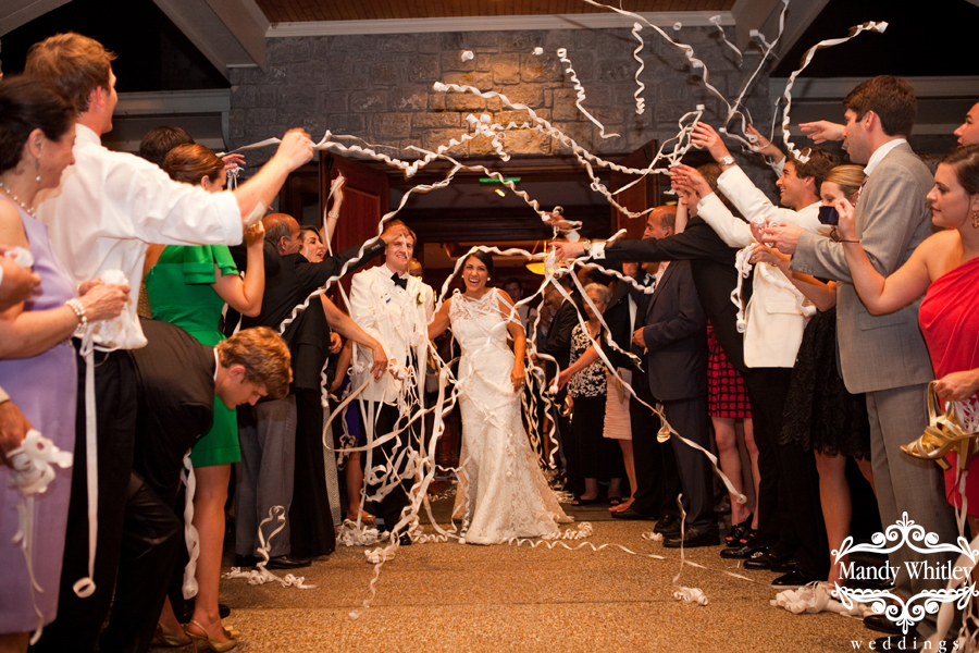 Nashville Wedding Streamer Exit Wedding Photographer