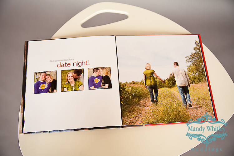 Wedding Sign in Book from Engagement Session