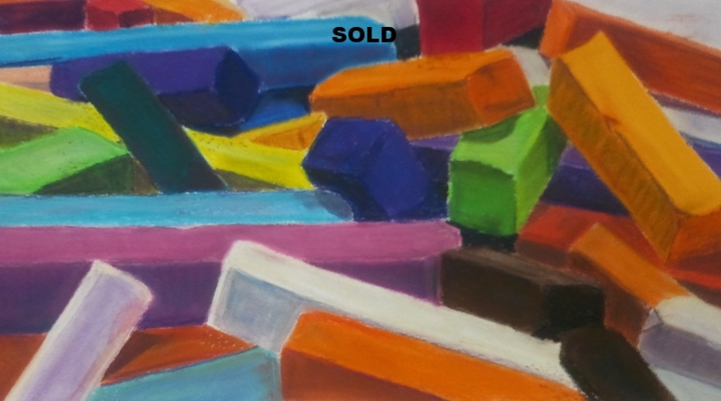 Tools, pastel, SOLD