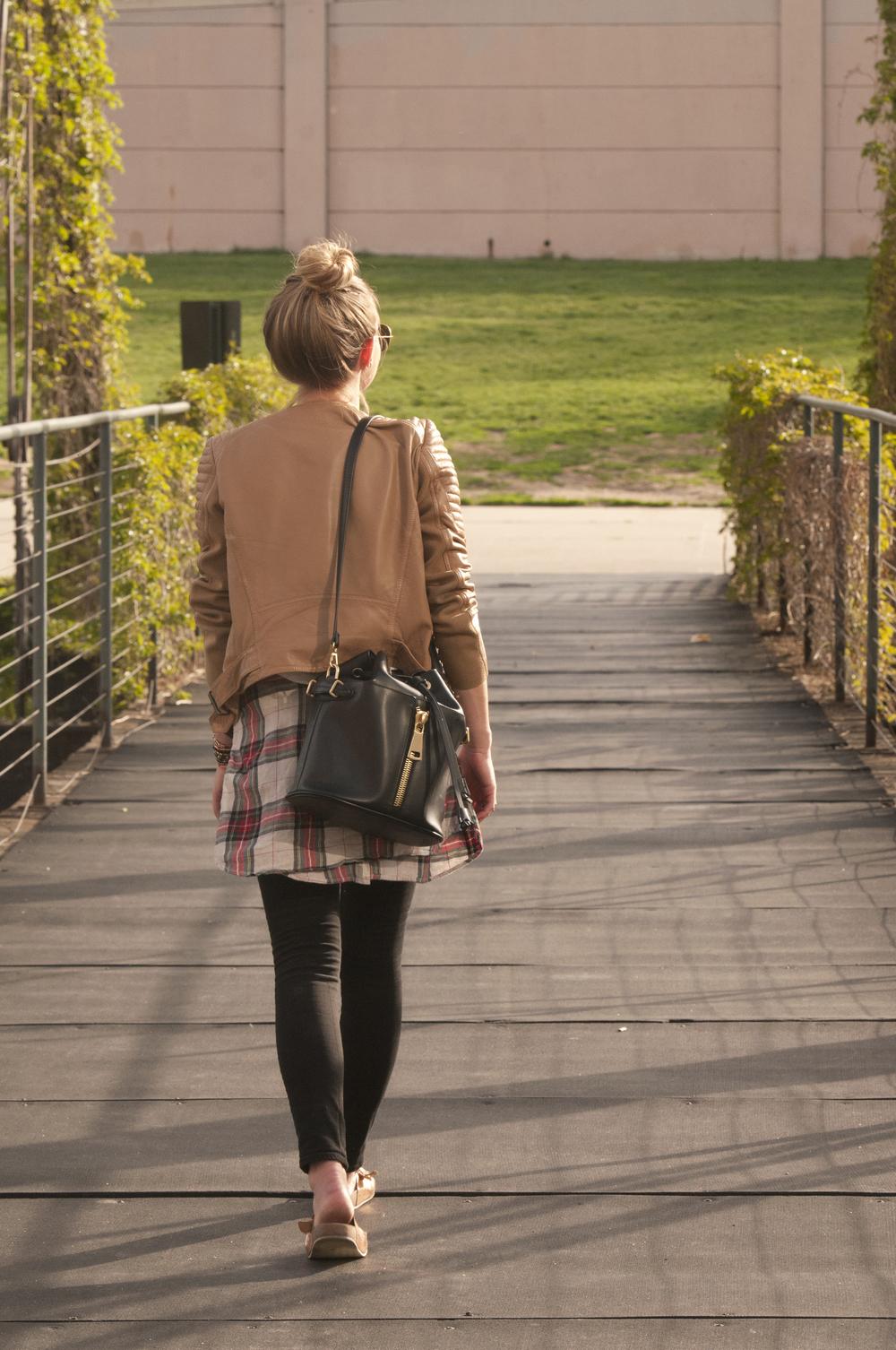"<img src=""Blogger Denim.jpg"" alt=""Leather Jacket Black Denim"" />"
