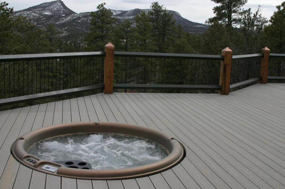 Nordic Hot Tub built into a deck.